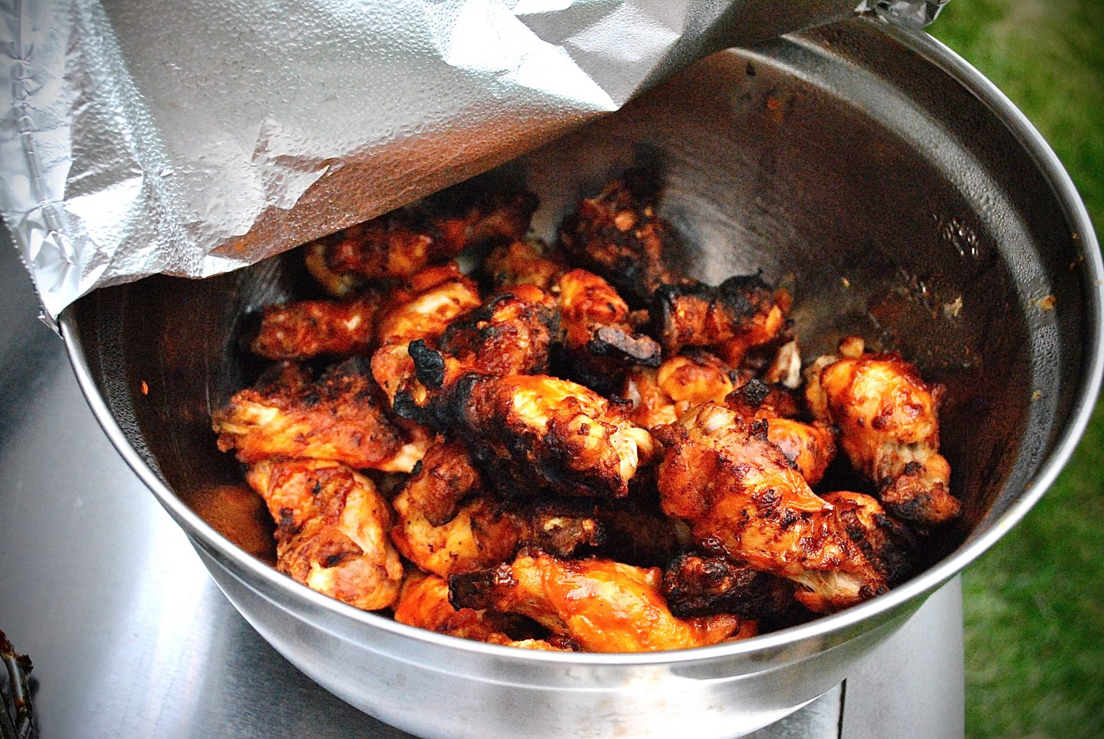 Grilling Buffalo Chicken Wings!