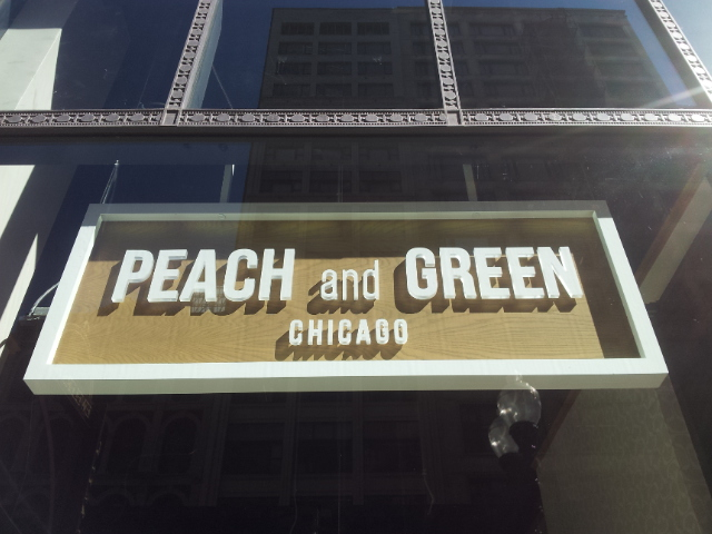 Peach and Green Chicago